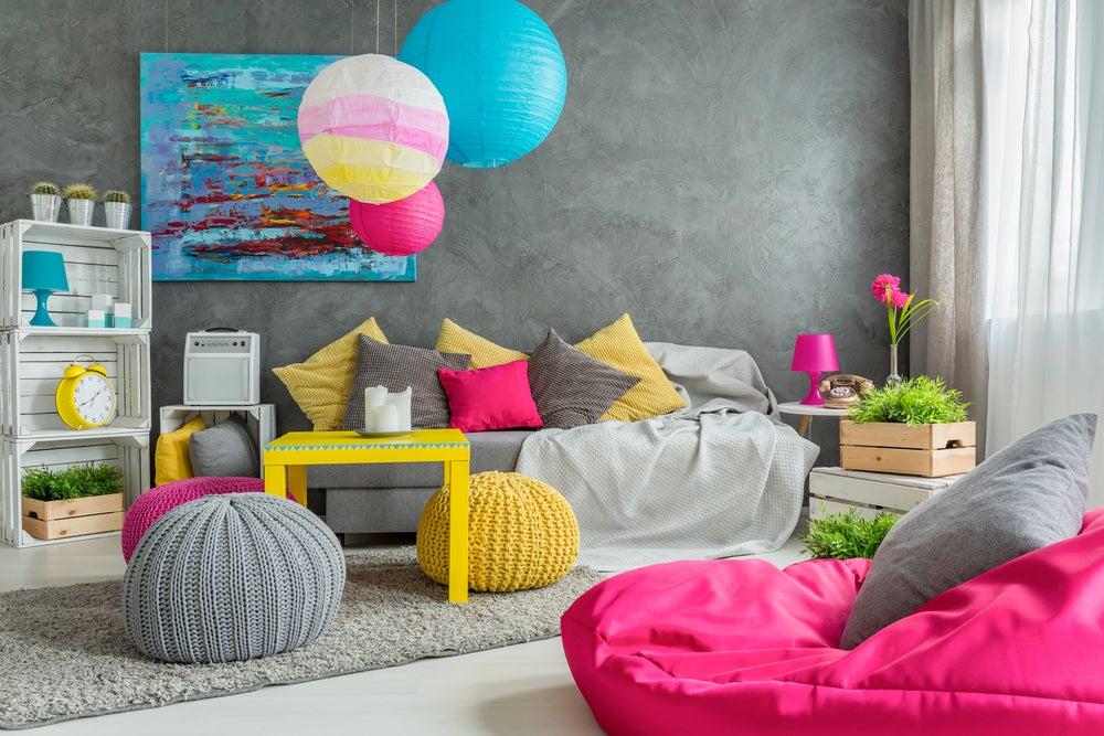 Casa multicolor: decora con muchos tonos