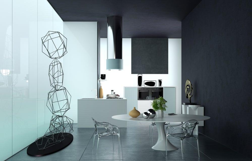 escultura abstracta comedor