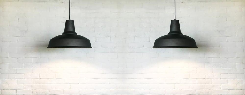 lámpara negra de techo