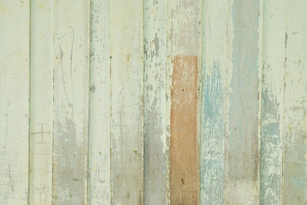 Pared de madera desgastada