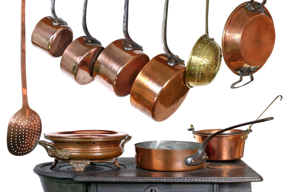 Utensilios de cobre.