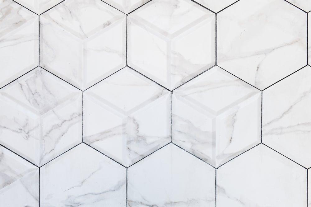 Geometric ceramic tiling.
