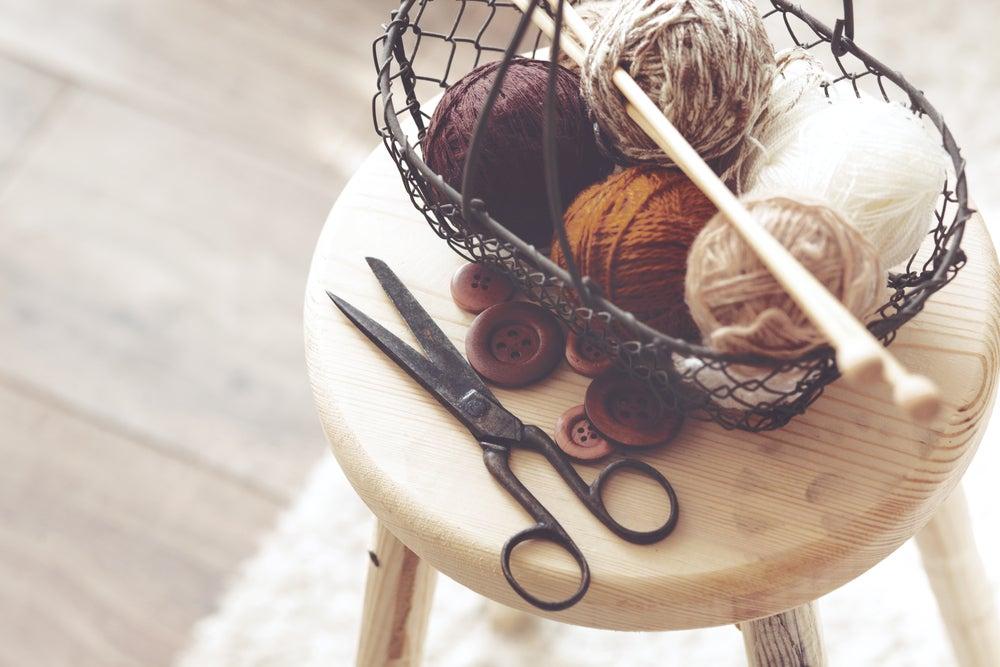 lana para tejer cortinas