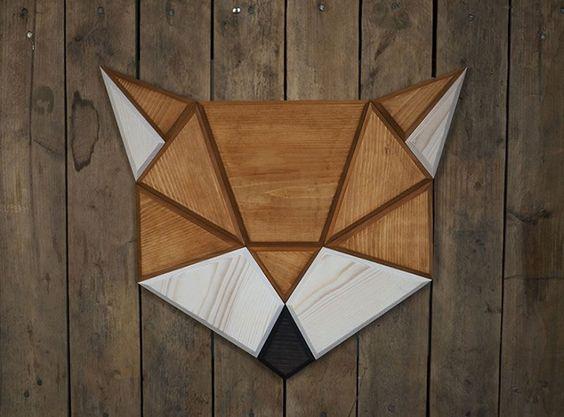 Cómo elaborar cuadros con forma geométrica en madera