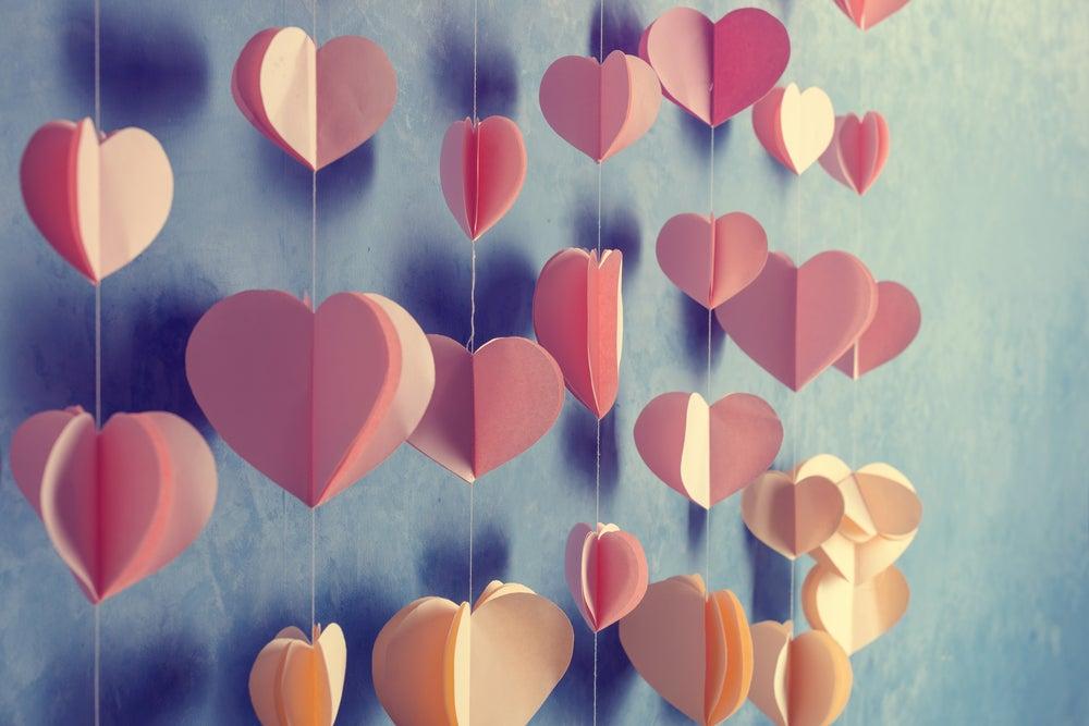 decoraciones románticas, guirnaldas