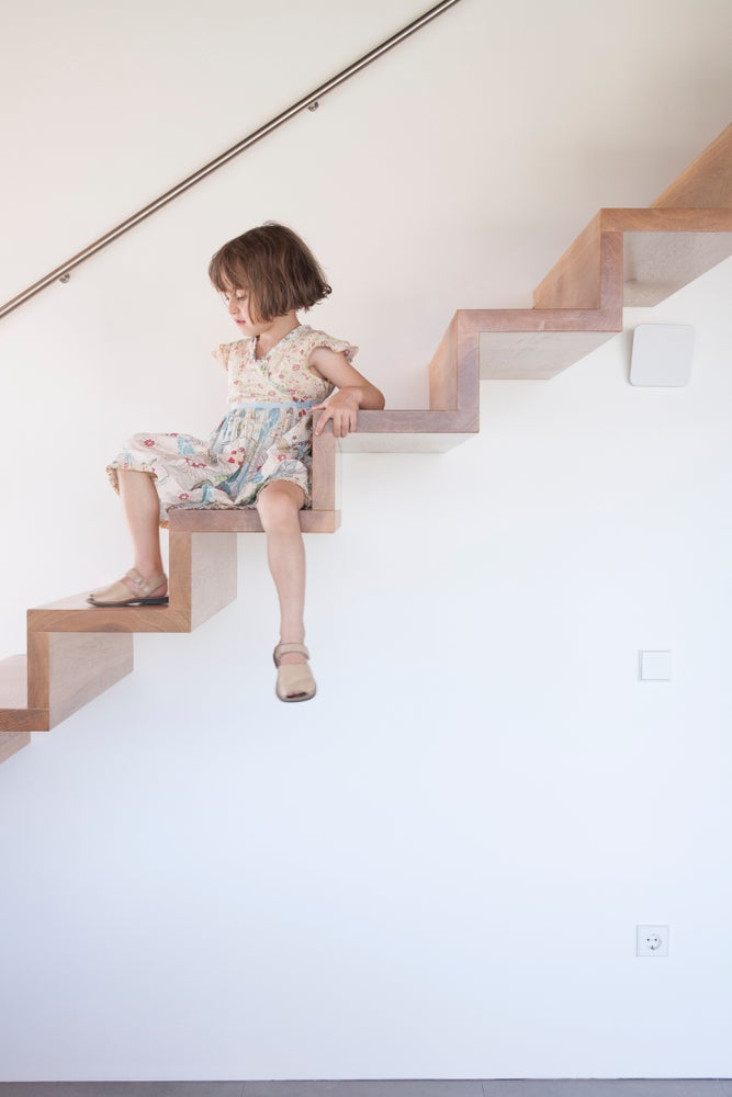 Floating staircases can be dangerous if you have young children.