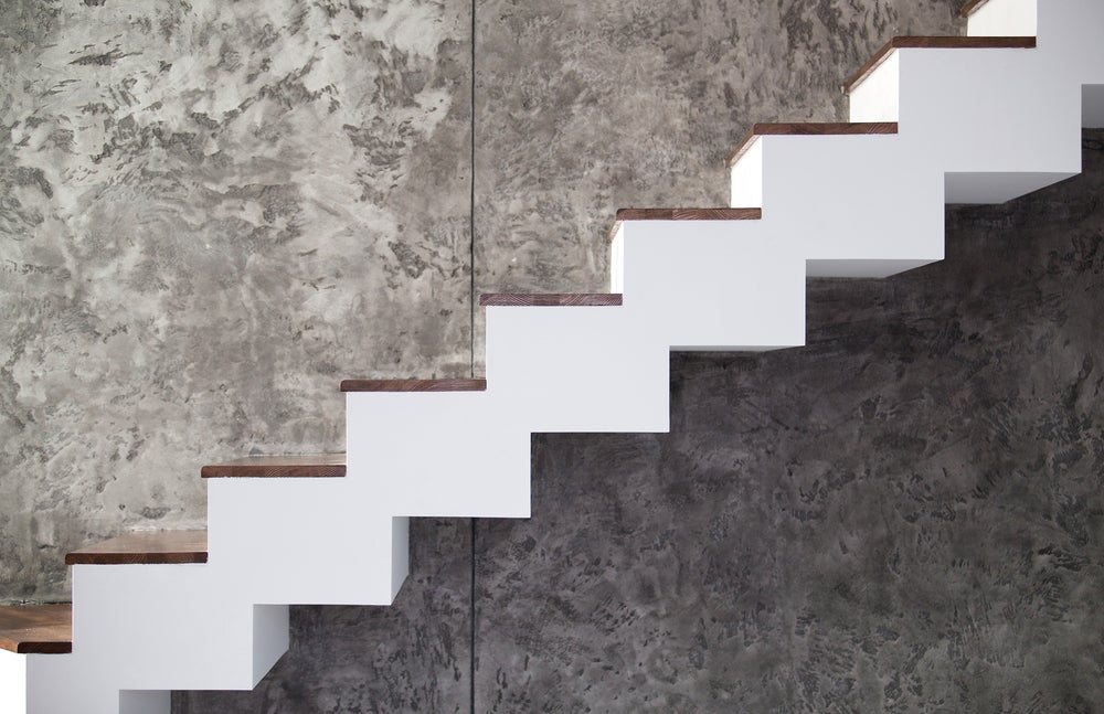Floating staircases can be made of wood, glass, metal, concrete, or almost any other material.