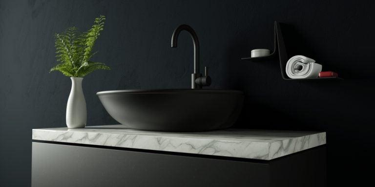 Griferías de color negro para decorar tus baños