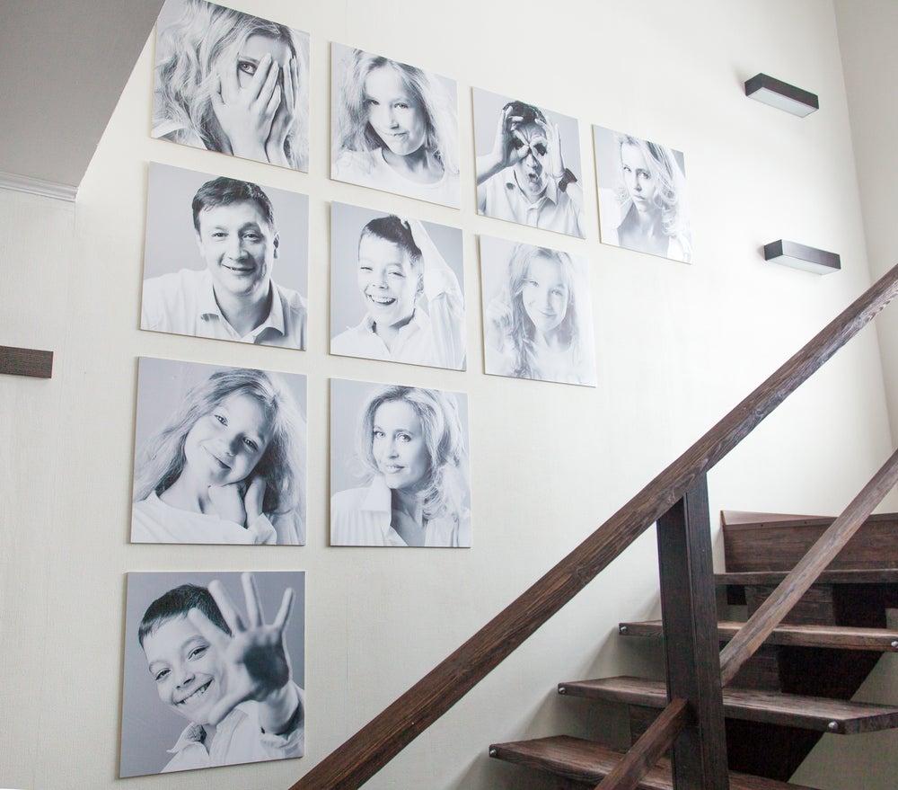 Cómo hacer un mural con tus fotos familiares