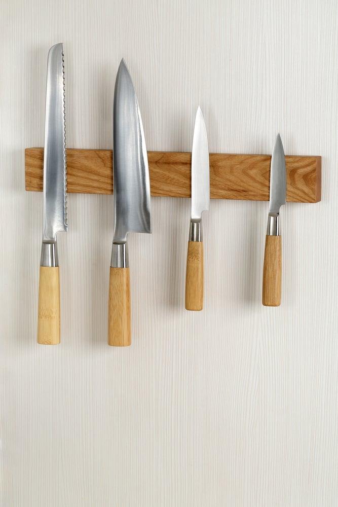 organizador de pared para cuchillos