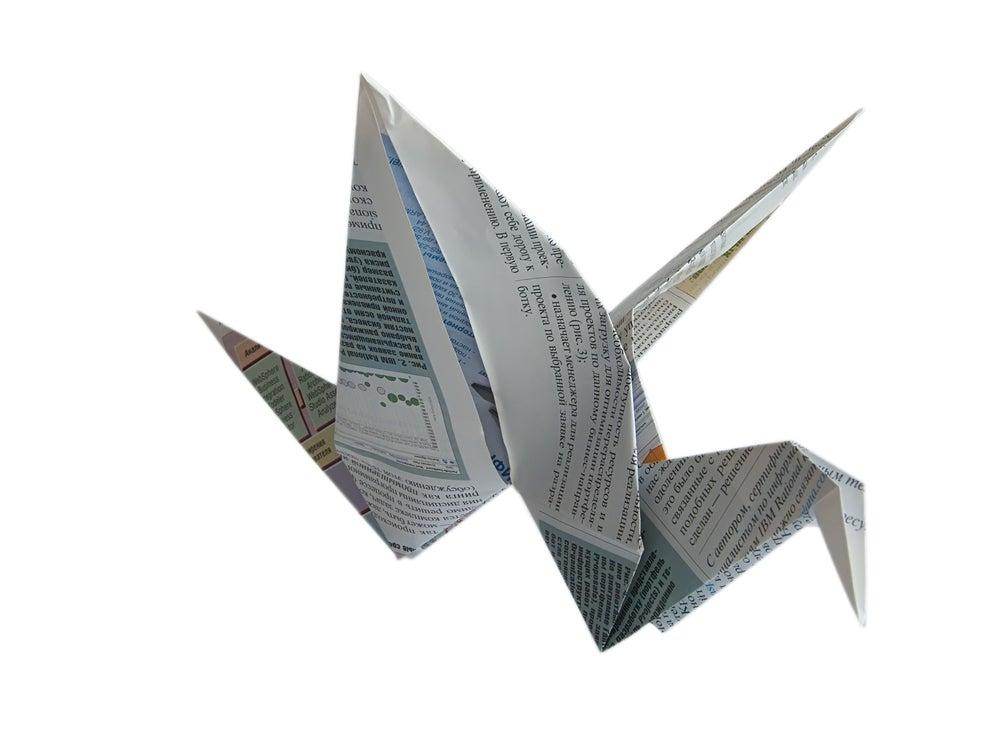 origami con papel de revistas viejas
