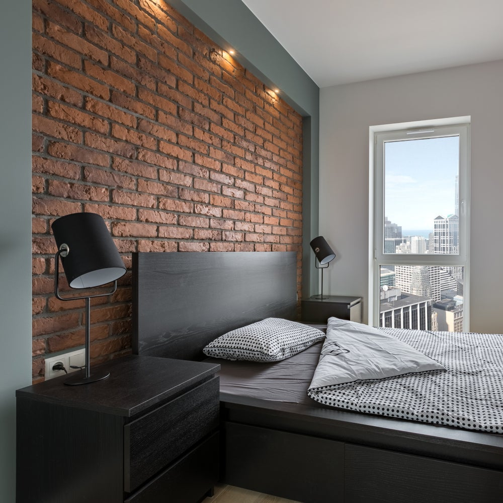 pared de ladrillo dormitorio