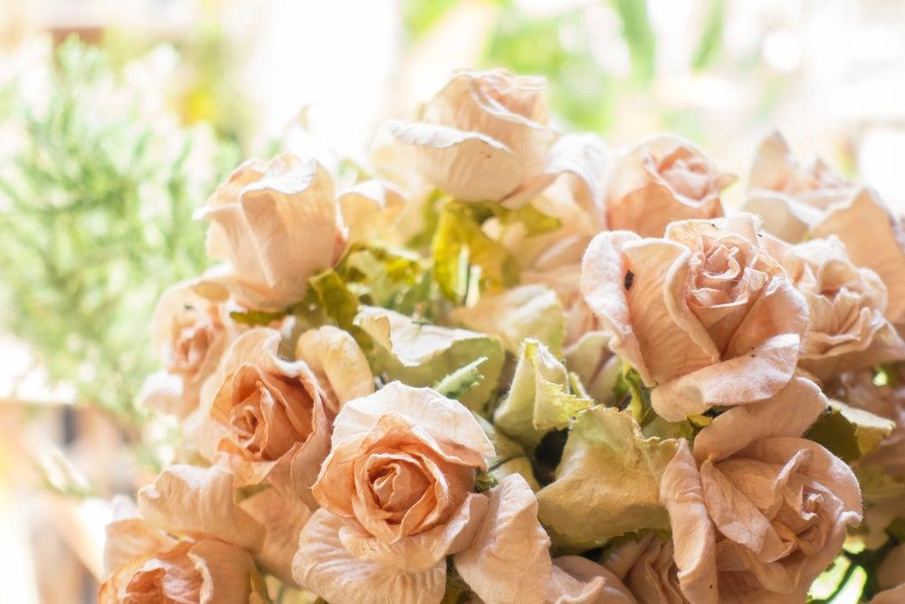Rosas, plantas artificiales