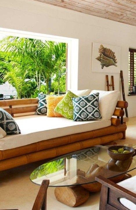 sofa de guadua