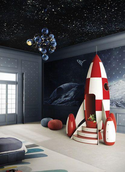 techo de habitación infantil decorado con estrellas
