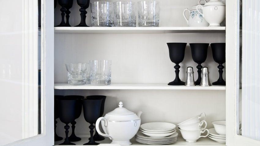 En tendencia: cristalería en blanco y negro