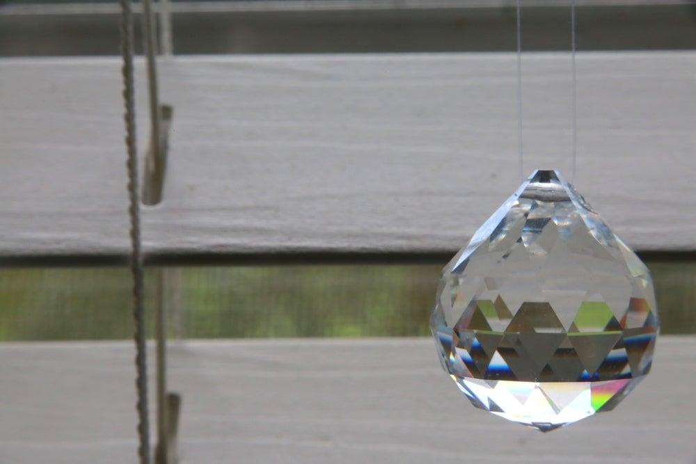Bola de cristal Feng Shui.