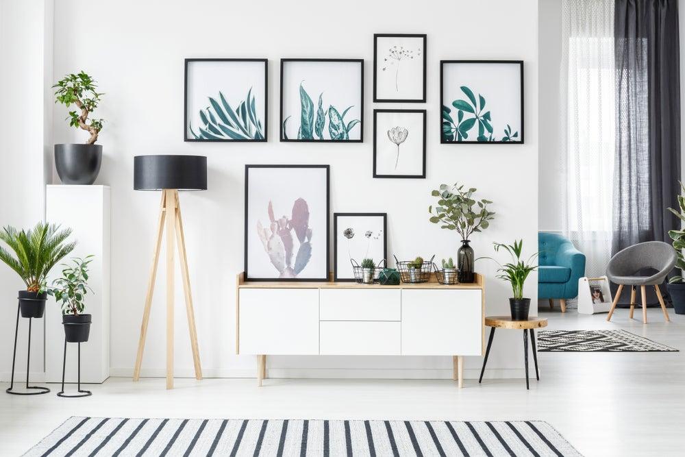 Utilizar el concepto de simetría a la hora de colgar tus cuadros