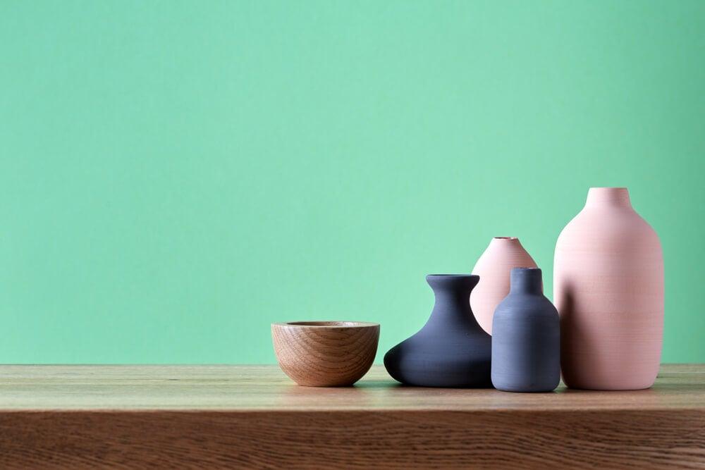 Colores de los jarrones decorativos.