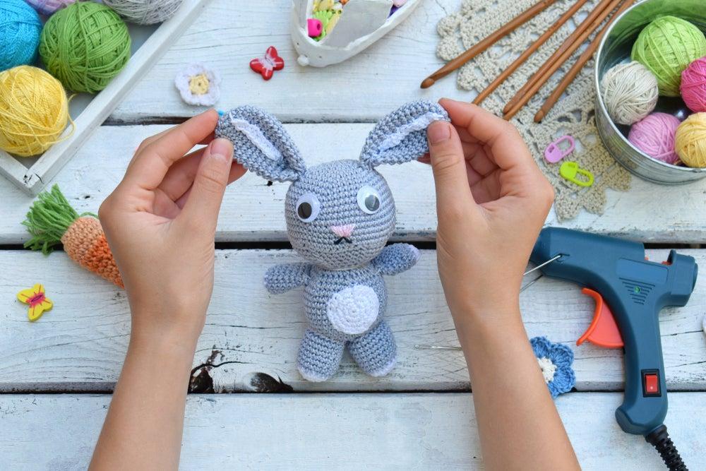Conejo de crochet.