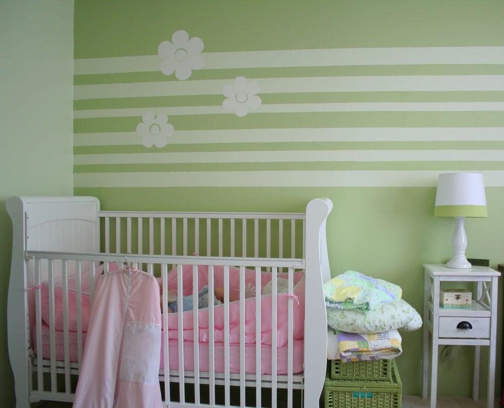 Dormitorio verde.