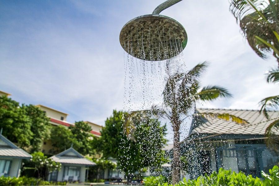 Novedosas duchas para el jardín