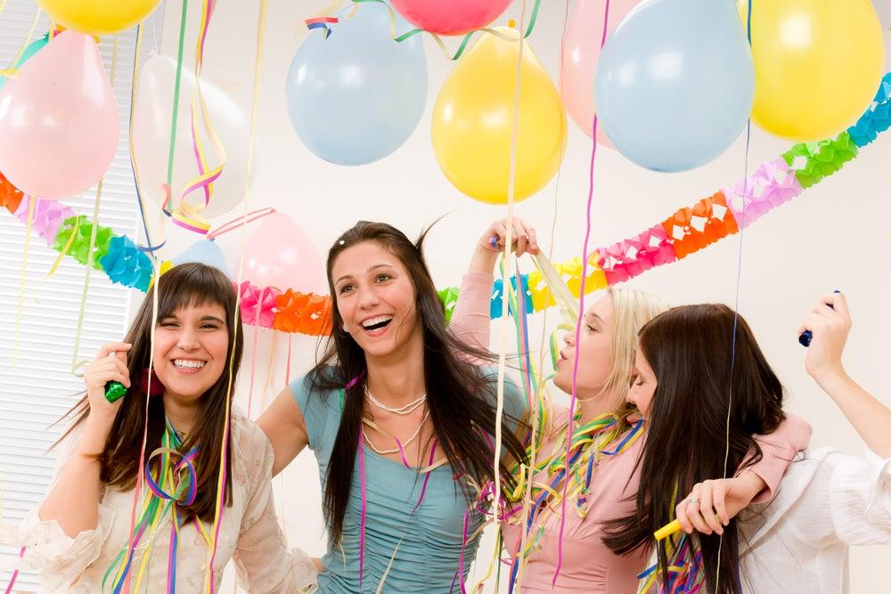 fiesta de 15 años con globos