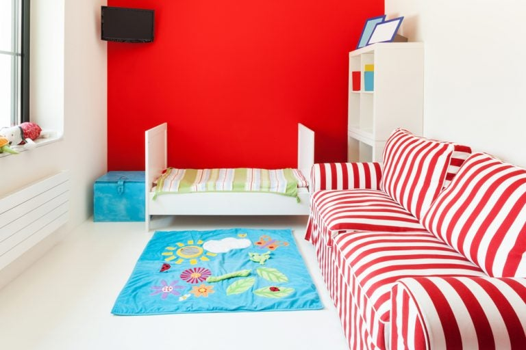Habitaciones infantiles en color rojo