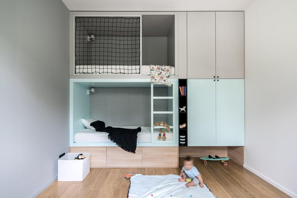 Muebles de habitaciones compartidas.