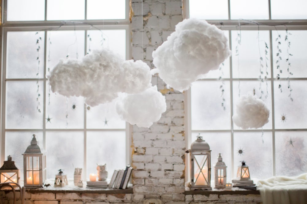 Make cloud lamps for your nursery.