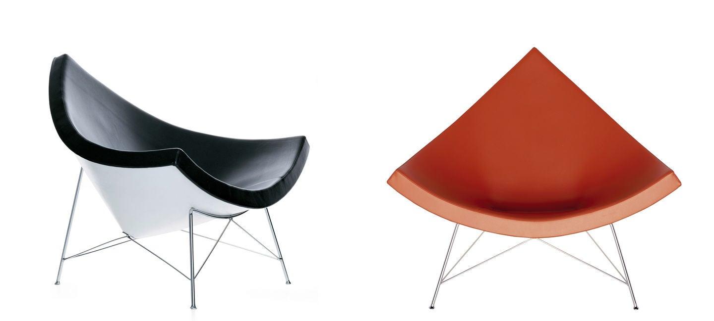 sillas coconut rojo y negro