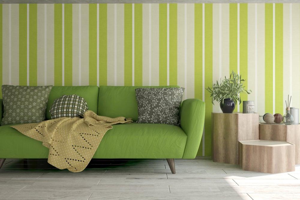 sofá verde manzana