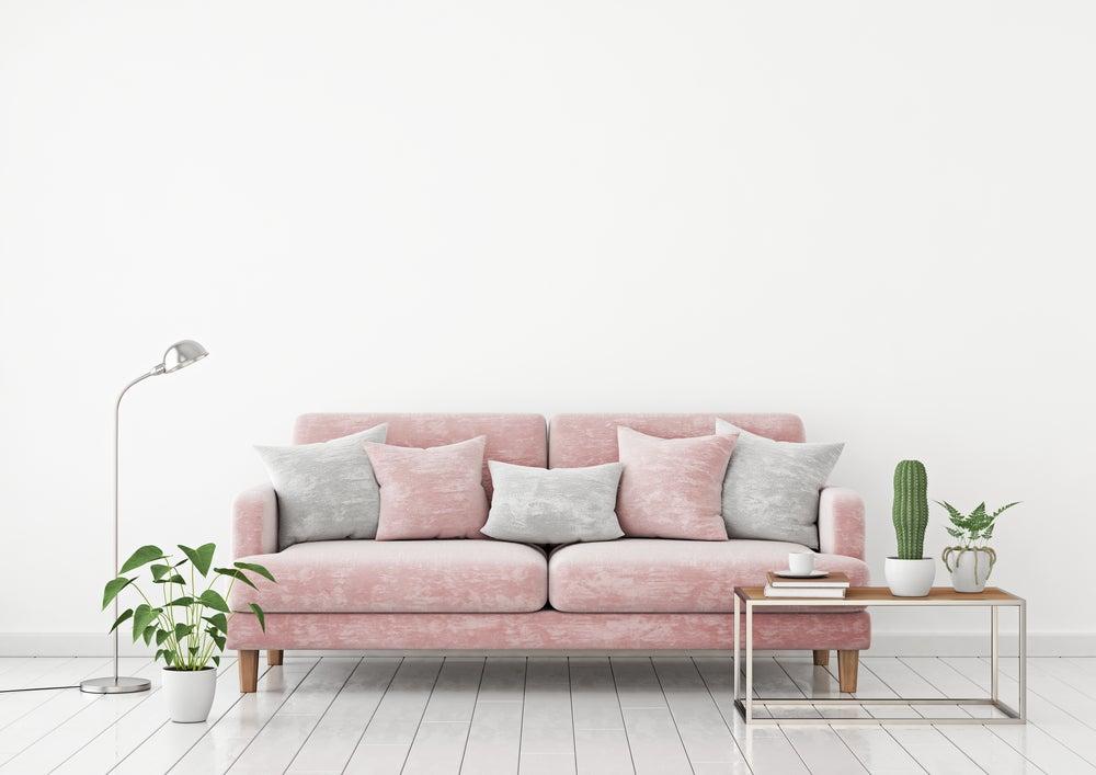 sofás rosas pastel