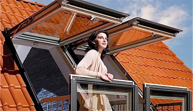 Ventanas en áticos que se convierten en balcón
