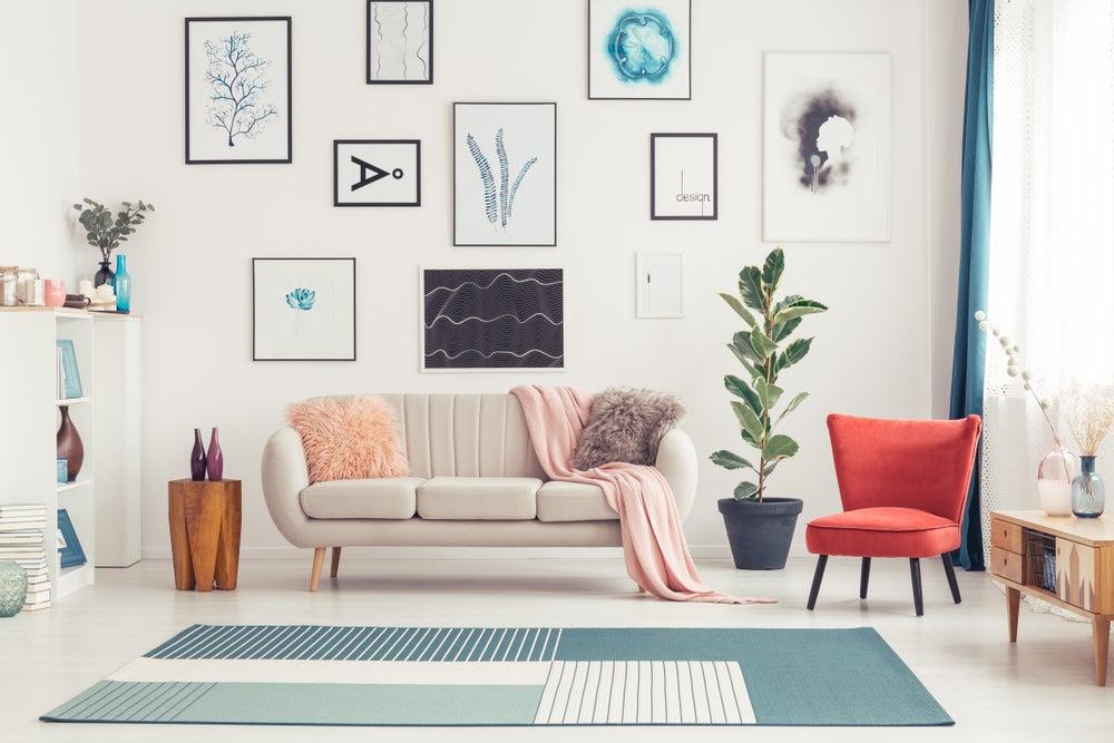 Alfombras de colores: espacios originales
