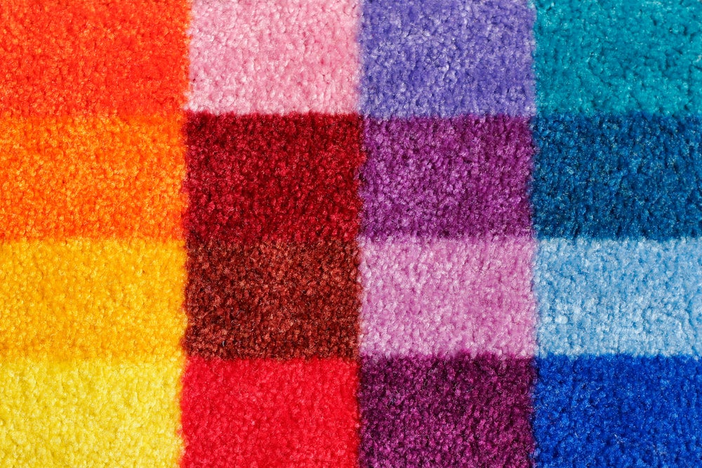 Colorful rug squares