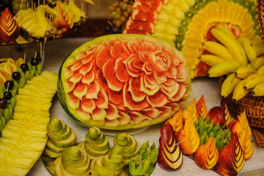 Arte mukimono frutas.