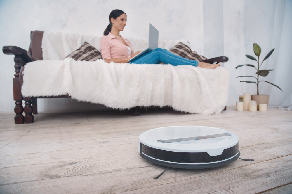 Robot vacuum cleaners do all the work for you.