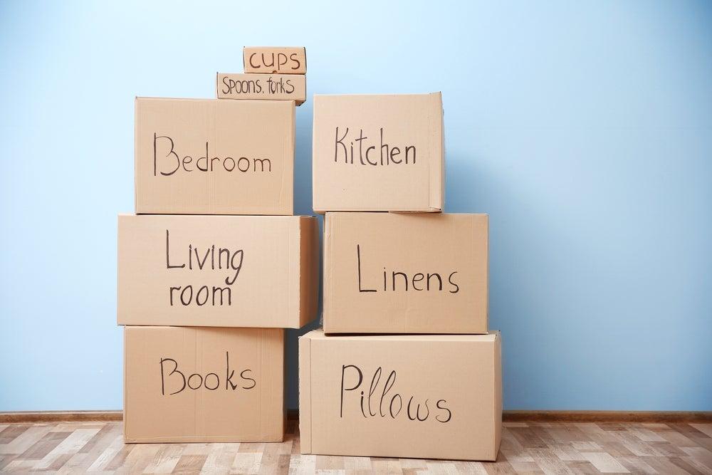 Cajas organizadas.