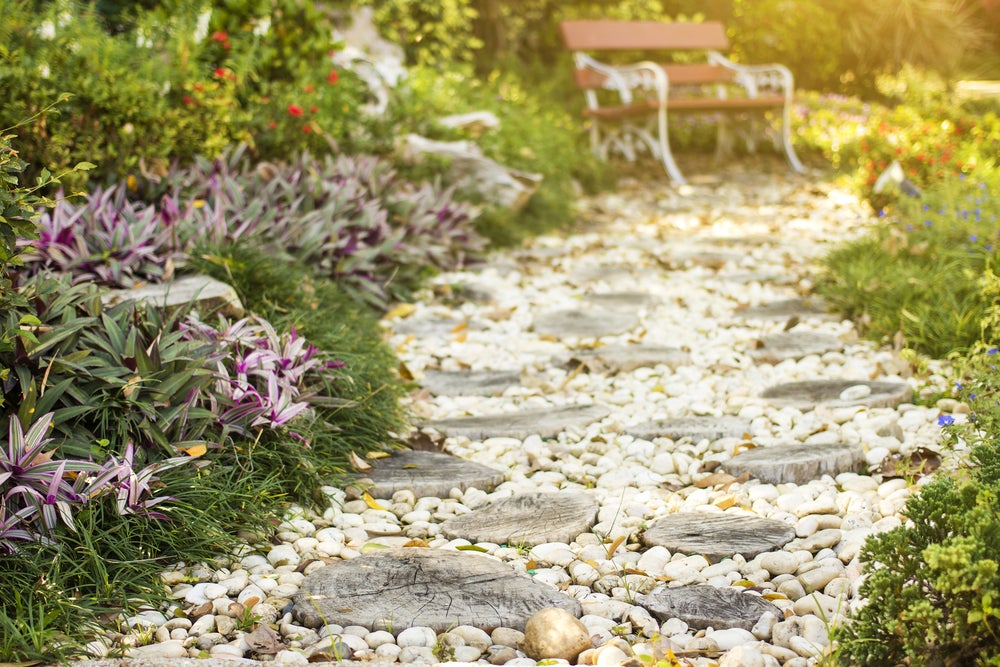 A beautiful gravel path.