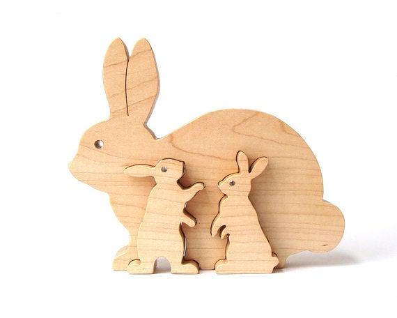 Conejos de madera.