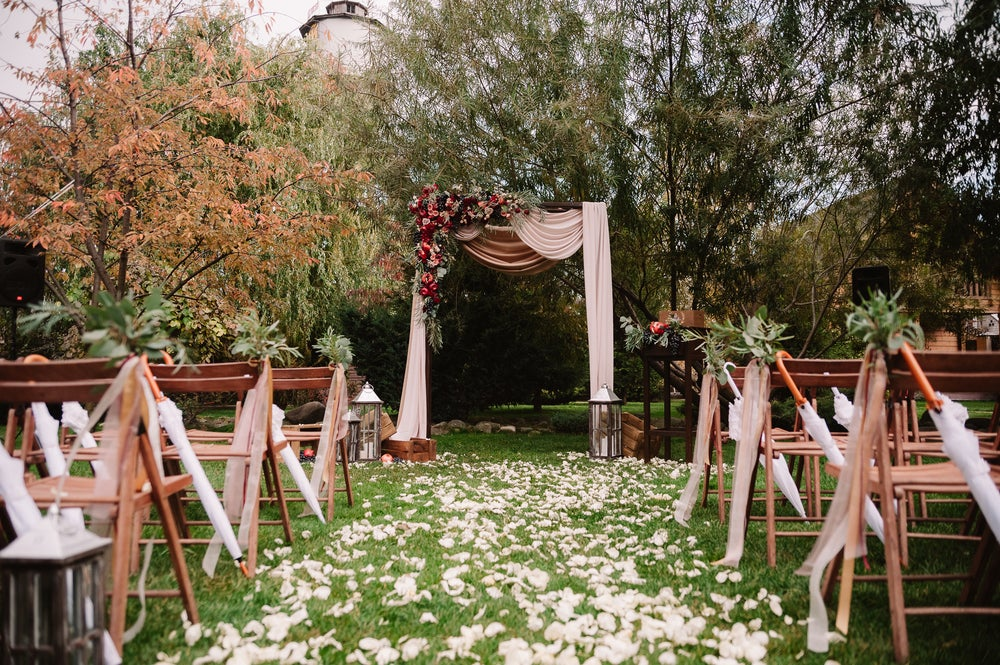 Decoración de una boda otoñal.