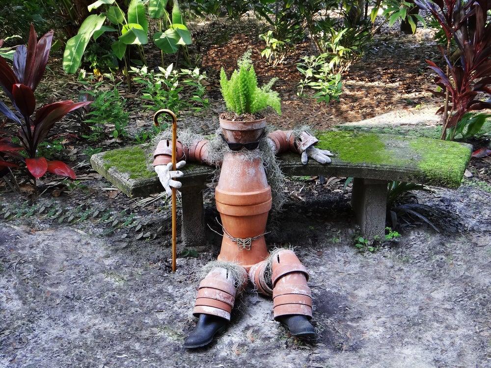 Decoración de un jardín de fantasía.