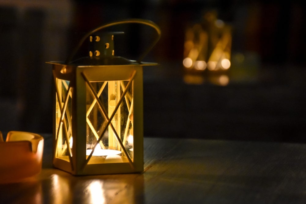 Create a display of lanterns in a corner of your house.