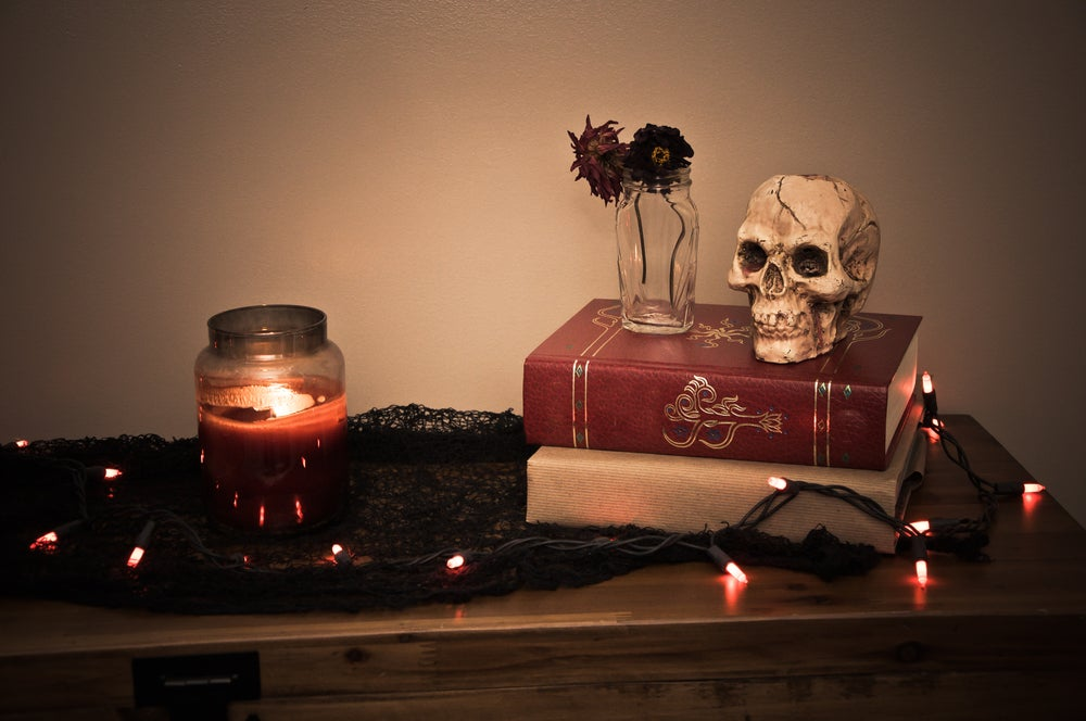 Luces rojas para Halloween.
