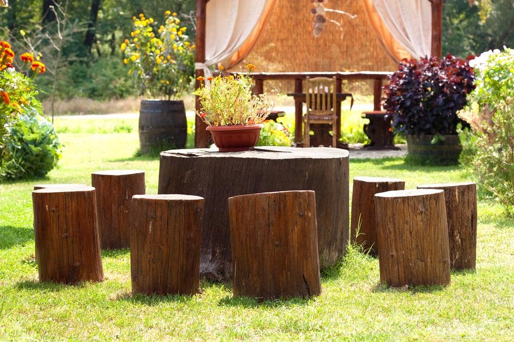 Ideas paradecorar con troncos