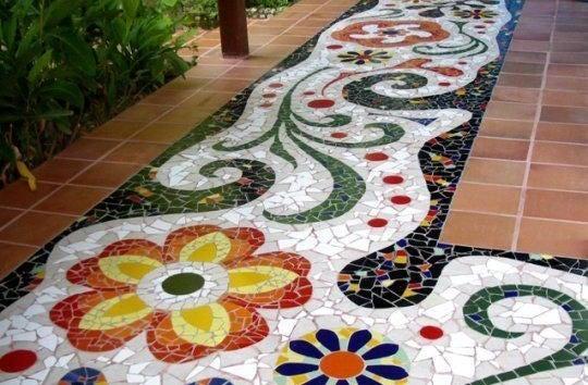 Mosaico exterior.