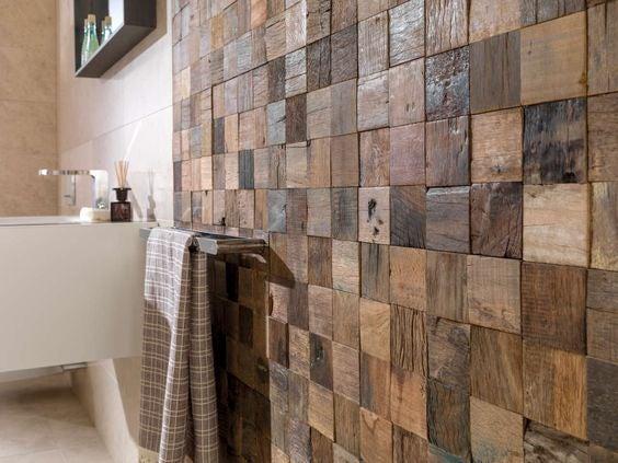 Mosaico de madera.