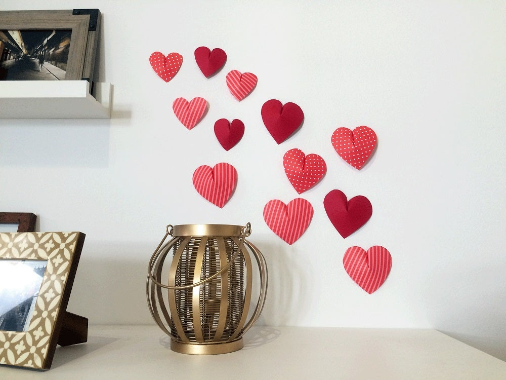 3D relief with love hearts.