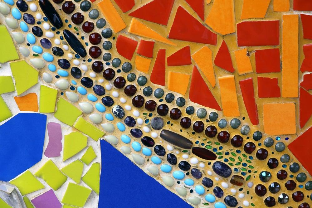 Suelos con mosaicos.